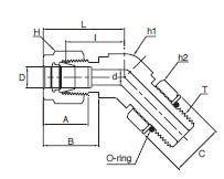 Позиционный угловой соединитель hy-lok, superlok, dk-lok