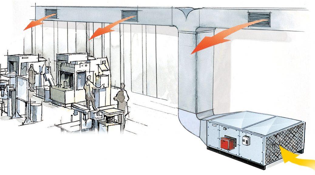 Газовый теплогенератор tecnoclima