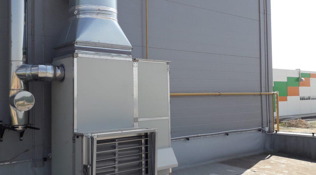 Стационарный газовый воздухонагреватель уличный вертикальный