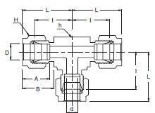 Схема тройник hy-lok, superlok, dk-lok