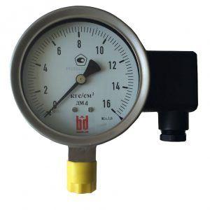 Деформационный манометр с трубчатой пружиной тип дм (модификация 4) и электрическим выходным сигналом
