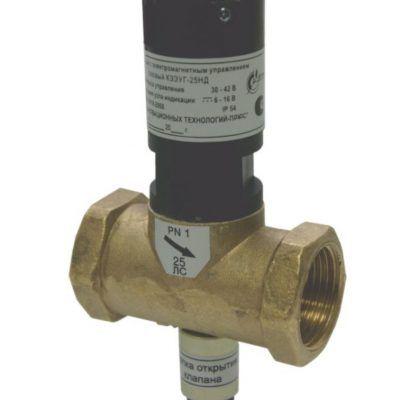 клапан запорный электромагнитным управлением газовый кзэуг
