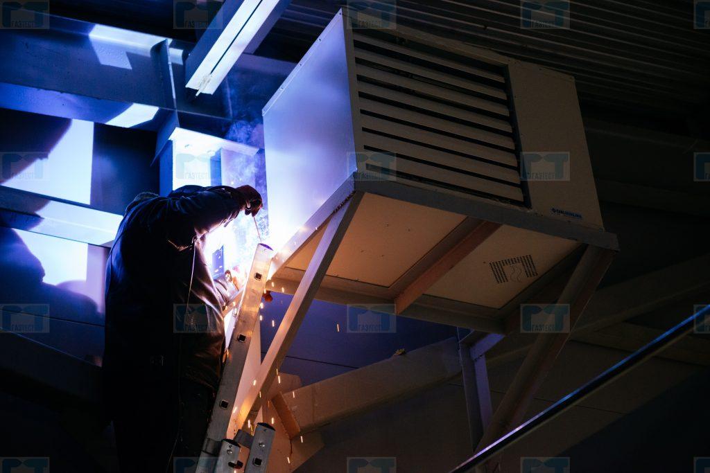 Монтаж газовых теплогенераторов