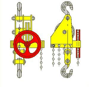 Таль ручная червячная стационарная ТРЧ 5,0 т 3 м