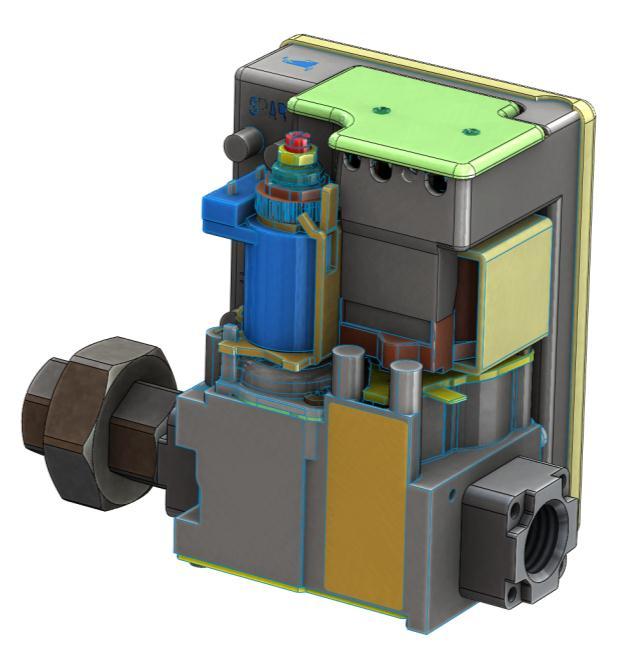 Газовый клапан теплогенератора