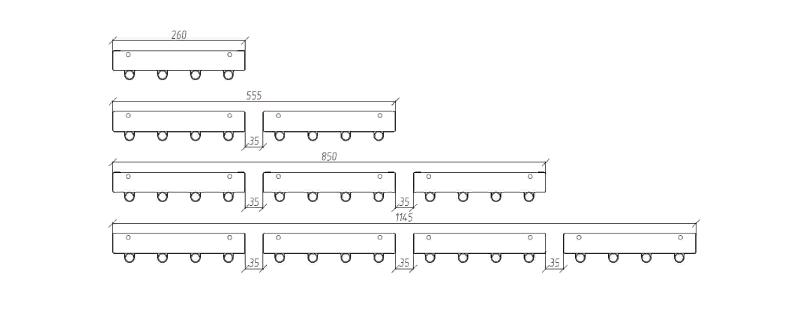 Размеры водяных инфракрасных панелей