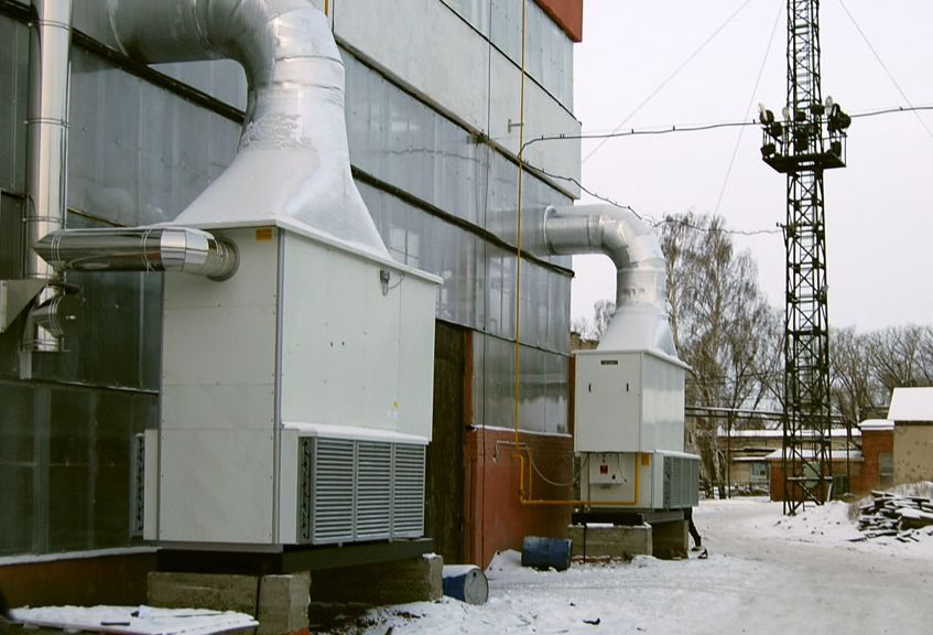 Установка газовых воздухонагревателей
