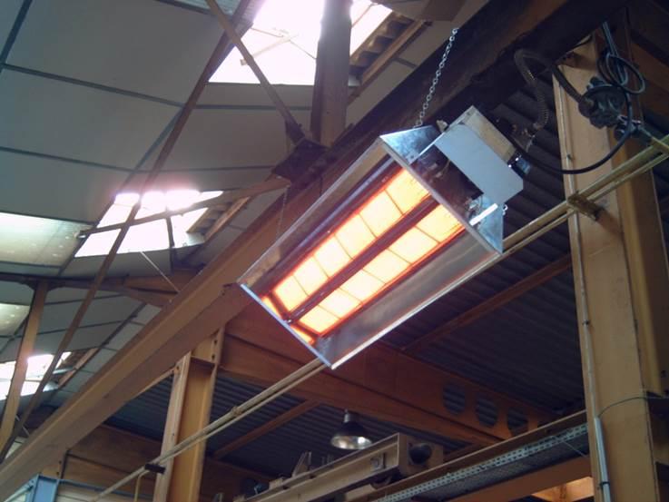 Отопление газовыми инфракрасными излучателями