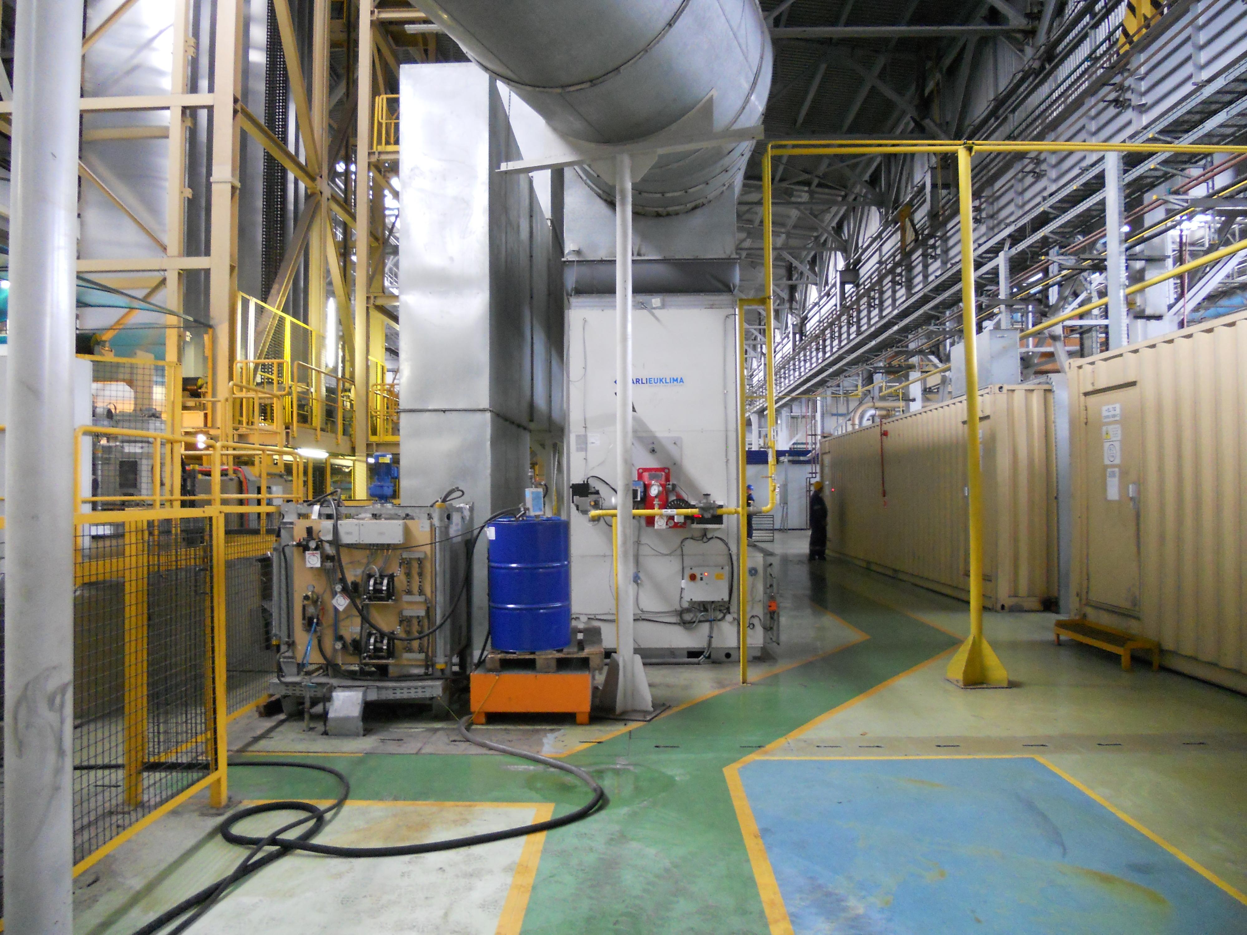 Газовый воздухонагреватель стационарный