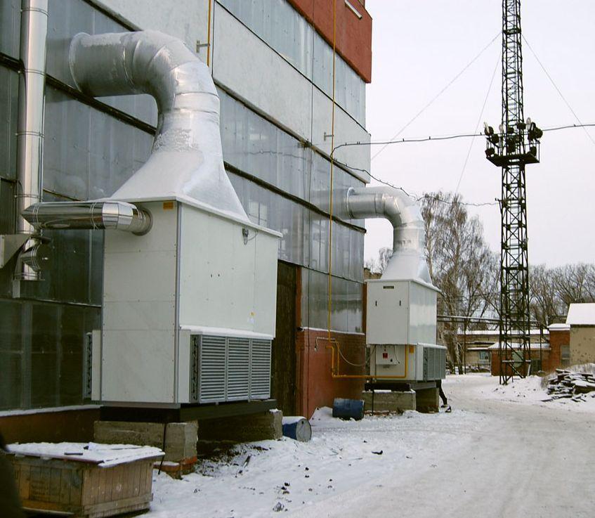 Стационарный воздухонагреватель газовый