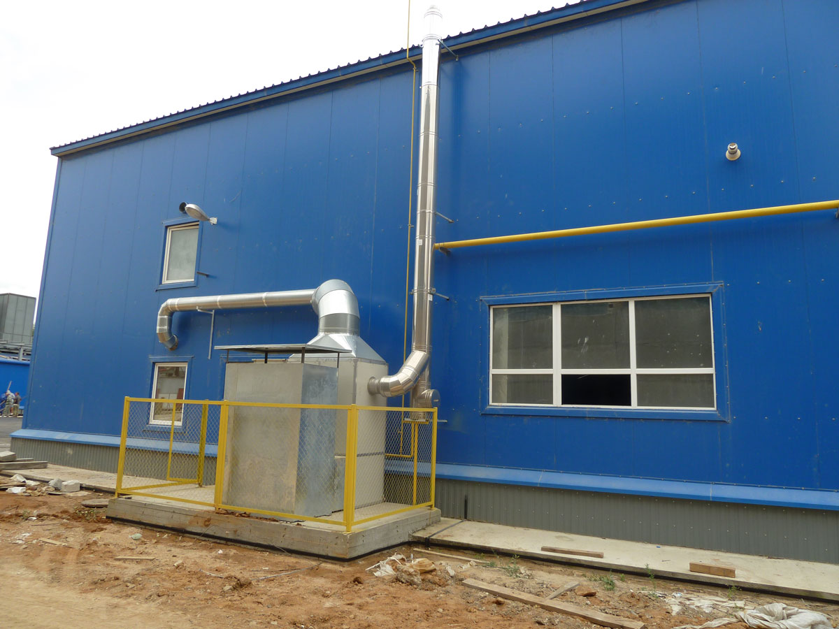 Теплогенератор воздушный газовый монтаж