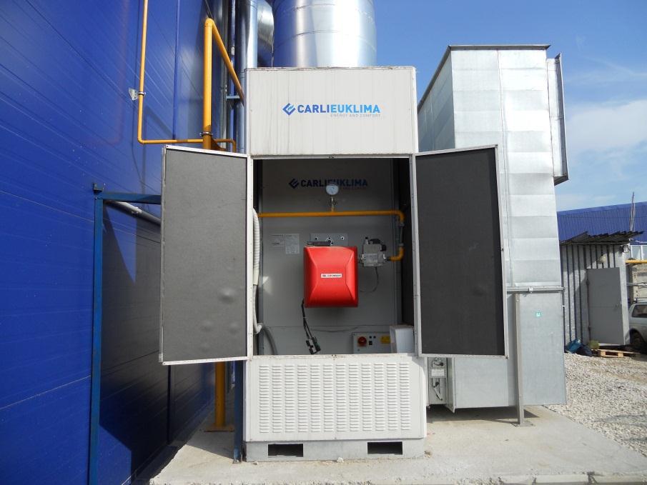 Теплогенератор воздушный газовый