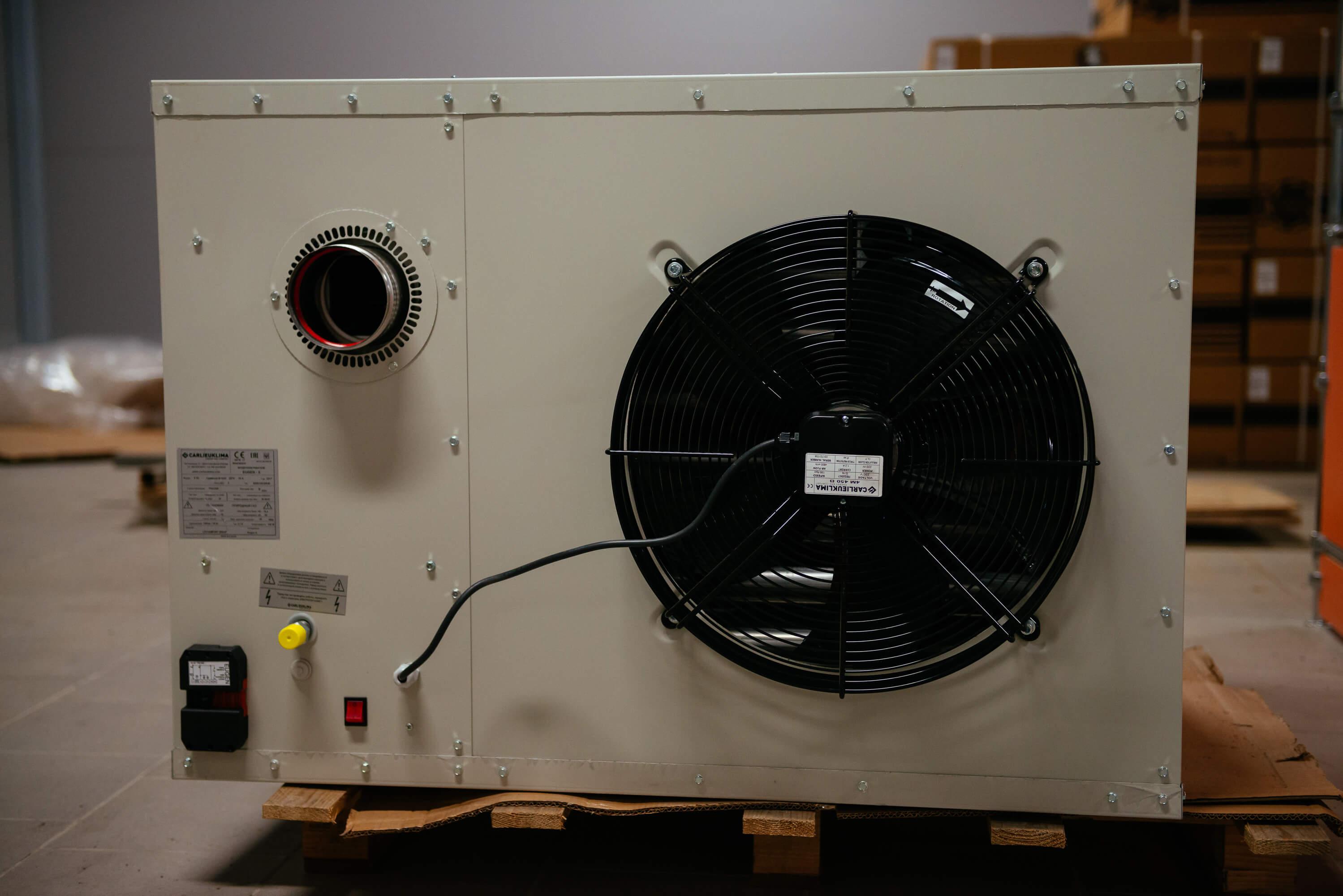 Теплогенератор промышленный воздушный